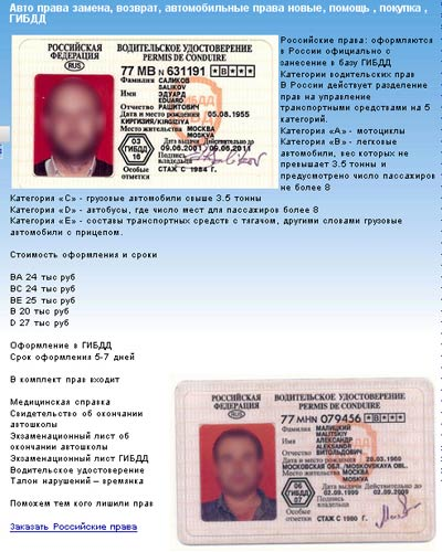 Медицинская справка на водительское удостоверение купить Нахабино