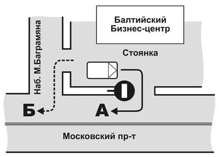 Схема 1. Парковка возле «